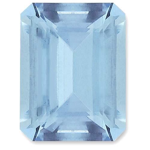 Aquamarine,Emerald Cut 1.53-Carat