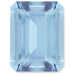 Aquamarine,Emerald Cut 1.53-Carat
