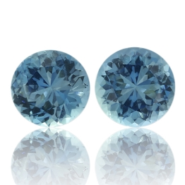 Aquamarine,Matched Pairs 3.67-Carat