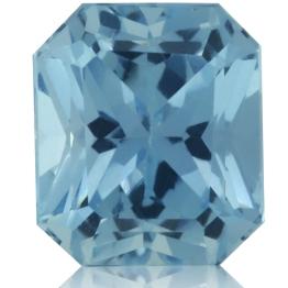 Aquamarine,Asscher 1.62-Carat