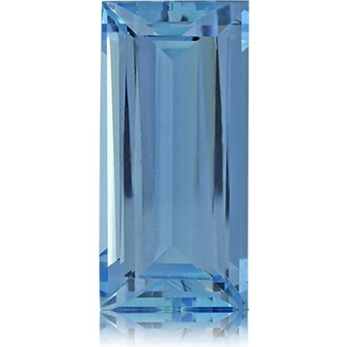 Aquamarine,Baguette 3.33-Carat