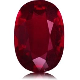 Ruby,Oval 1.59-Carat