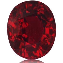 Ruby,Oval 2.07-Carat