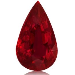 Ruby,Pear 3.02-Carat