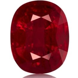 Ruby,Cushion 5.01-Carat