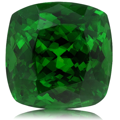 Tsavorite,Cushion 10.04-Carat
