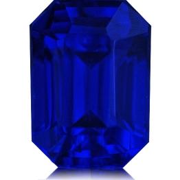 Tanzanite,Emerald Cut 4.10-Carat