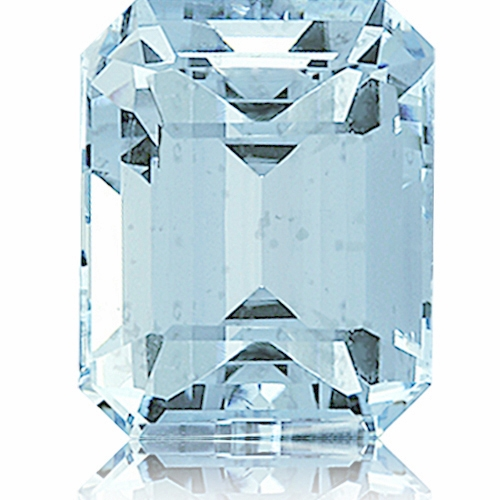 Aquamarine,Emerald Cut 4.32-Carat