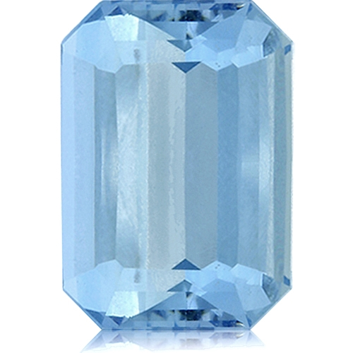 Aquamarine,Emerald Cut 6.11-Carat