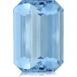 Aquamarine,Emerald Cut 6.11-Carat