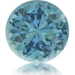 Aquamarine,Round 1.17-Carat