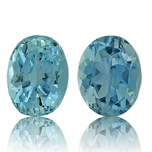 Aquamarine,Matched Pairs 2.23-Carat