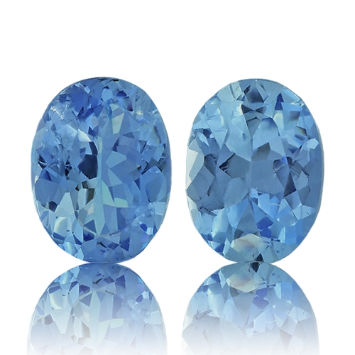 Aquamarine,Matched Pairs 1.90-Carat