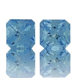Aquamarine,Matched Pairs 1.66-Carat