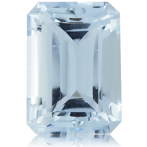 Aquamarine,Emerald Cut 3.37-Carat
