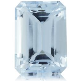 Aquamarine,Emerald Cut 3.37-Carat