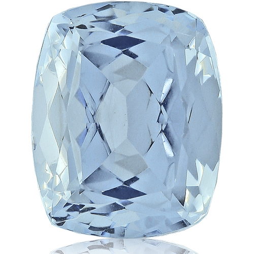 Aquamarine,Cushion 3.50-Carat