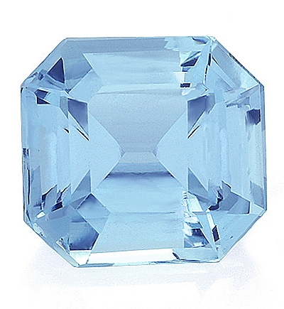 Aquamarine,Emerald Cut 5.26-Carat