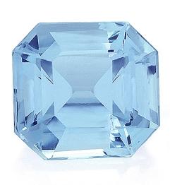 Aquamarine,Emerald Cut 5.26-Carat