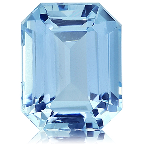 Aquamarine,Emerald Cut 5.15-Carat