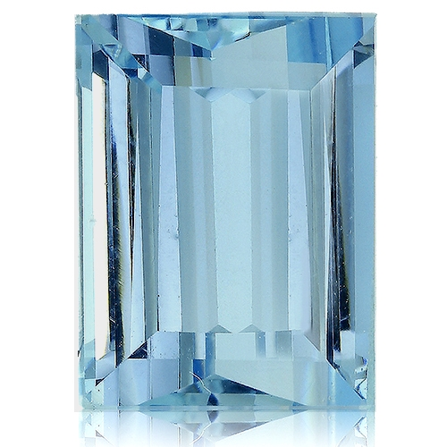 Aquamarine,Baguette 4.98-Carat