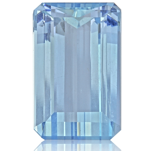 Aquamarine,Emerald Cut 3.50-Carat