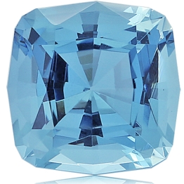 Aquamarine,Cushion 6.20-Carat
