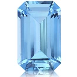 Aquamarine,Emerald Cut 3.26-Carat