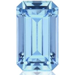 Aquamarine,Emerald Cut 2.23-Carat