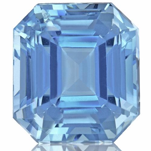 Aquamarine,Emerald Cut 3.16-Carat