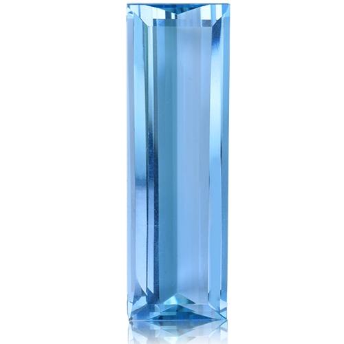 Aquamarine,Baguette 13.82-Carat