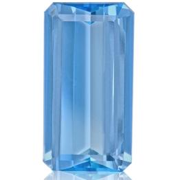 Aquamarine,Emerald Cut 2.68-Carat