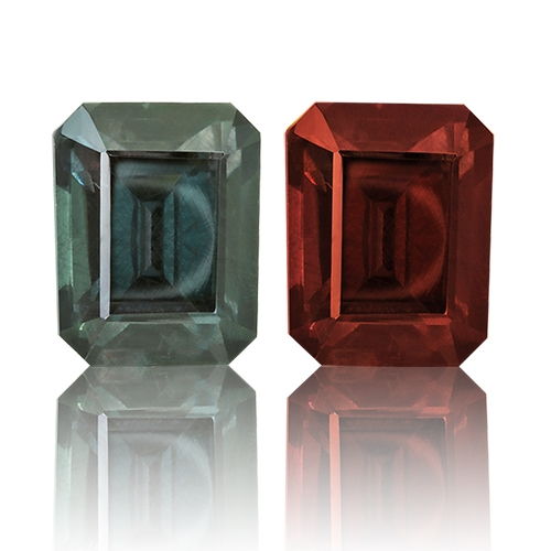 Color Change Garnet,Emerald Cut 2.73-Carat