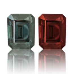 Color Change Garnet,Emerald Cut 2.73-Carat