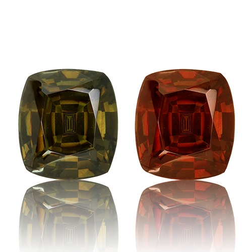Color Change Garnet,Cushion 2.14-Carat