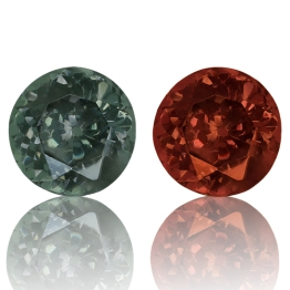Color Change Garnet,Round 0.67-Carat