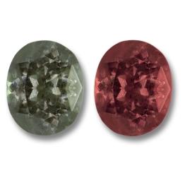 Color Change Garnet,Oval 1.34-Carat