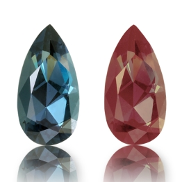 Color Change Garnet,Pear 0.94-Carat