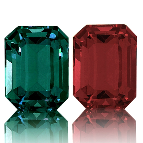 Color Change Garnet,Emerald Cut 1.85-Carat