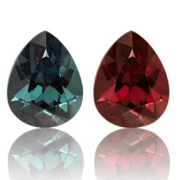 Color Change Garnet,Pear 3.54-Carat