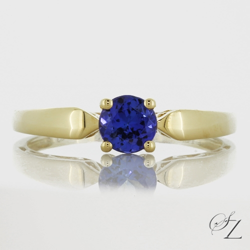 tanzanite-solitaire-ring-with-tapered-shank-jsr085