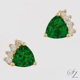 trillion-tsavorite-and-diamond-stud-earrings-lste016