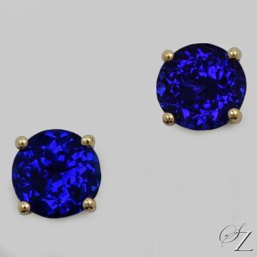 round-tanzanite-stud-earrings-lste032