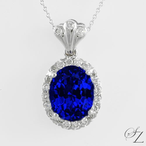 oval-tanzanite-and-diamond-halo-pendant-lstp022