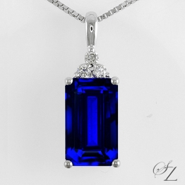 emerald-cut-tanzanite-and-diamond-pendant-lstp042