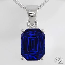 emerald-cut-tanzanite-pendant-lstp046