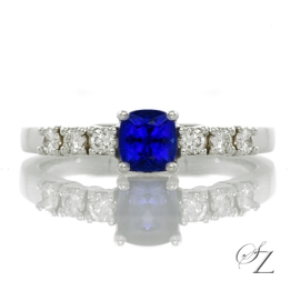 cushion-cut-tanzanite-and-diamond-ring-lstr044