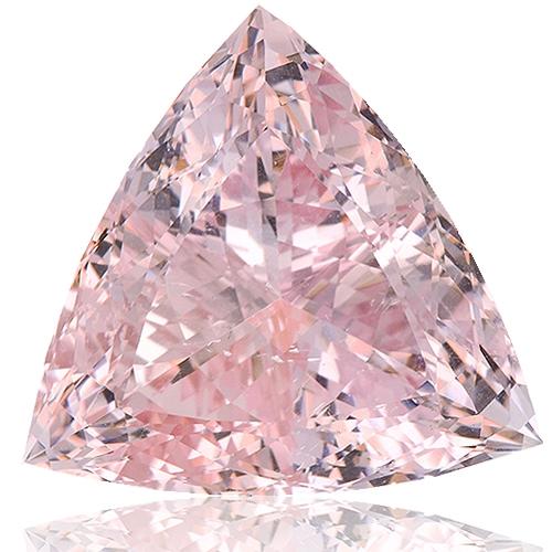 Morganite,Trillion 29.50-Carat