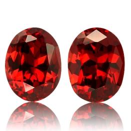 Rhodolite Garnet,Matched Pairs 3.65-Carat