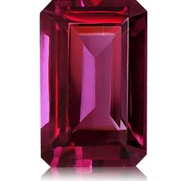 Rhodolite Garnet,Emerald Cut 3.68-Carat